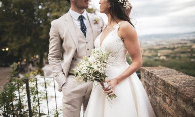 English wedding at Castello di Rosciano