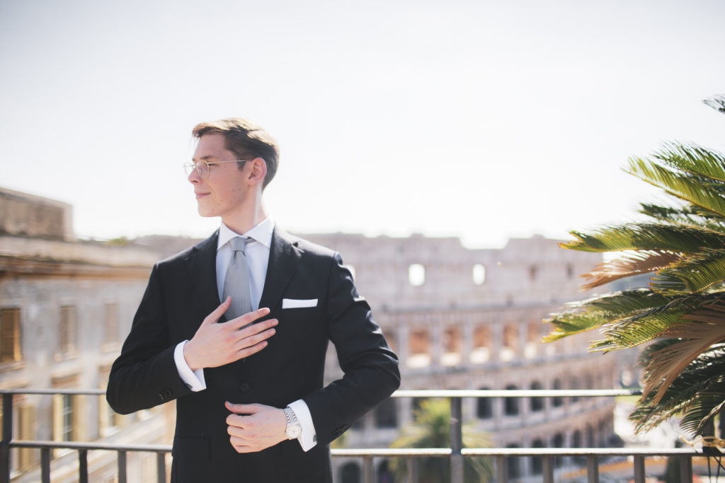 Destination wedding photographer Rome